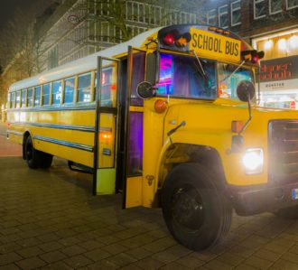 Hamburg Highschool Party Bus Exterior