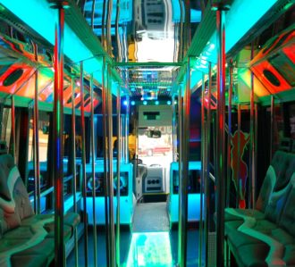 Large Benidorm Party Bus Interior